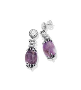 "Серьги ""Amethyst Drops Earrings"" cod. 10115"