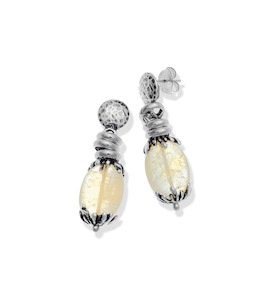 "Серьги ""Yellow Quartz Drops Earrings"" cod. 10116"