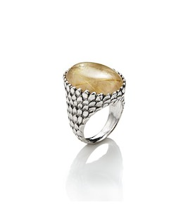 "Кольцо ""Snake Ring Mother-Of-Pearl And Quartz"" cod. 7312"
