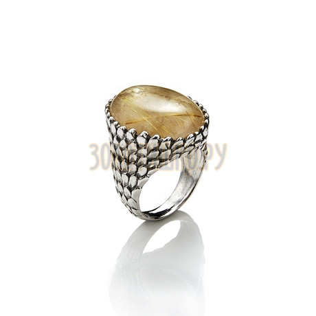 """Кольцо """"Snake Ring Mother-Of-Pearl And Quartz"""" cod. 7312"""