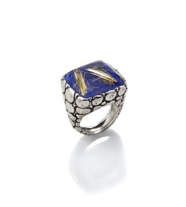 "Кольцо ""Crocodile Ring Lapis Lazuli And Quartz"" cod. 7313"