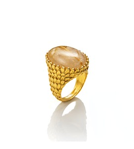"Кольцо ""Snake Ring Mother-Of-Pearl And Quartz"" cod. 8137"