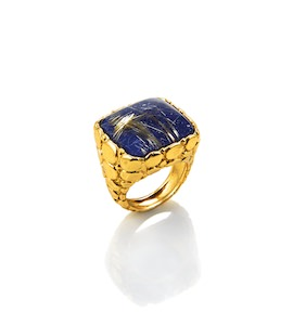"Кольцо ""Crocodile Ring Lapis Lazuli And Quartz"" cod. 8138"