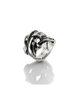 "Кольцо ""Silver Ribbon Small"" cod. 8427"