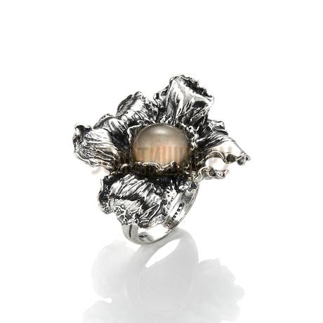 "Кольцо ""Champagne Iris"" cod. 8687"