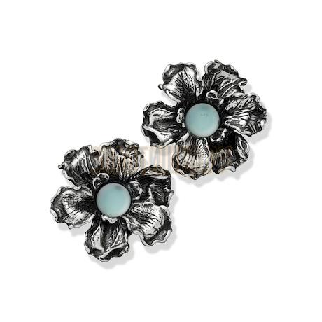 "Серьги ""Light Blue Iris Earrings"" cod. 8688"