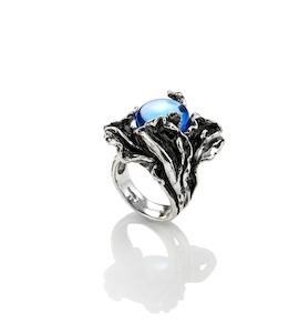 "Кольцо ""Blue Orchid"" cod. 9272"