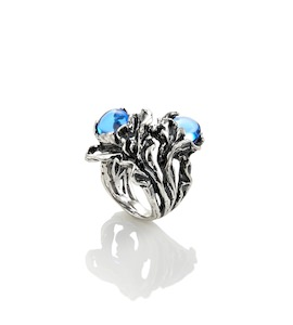 "Кольцо ""Blue Orchid Two Drops"" cod. 9273"
