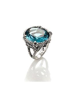 """Кольцо """"Rope Ring with Turquoise Quartz"""" cod. 9399"""
