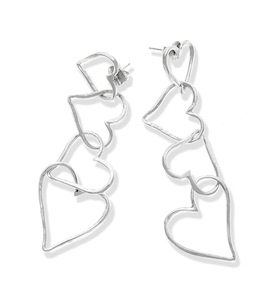 "Серьги ""Air Hearts Long Earrings"" cod. 9891"