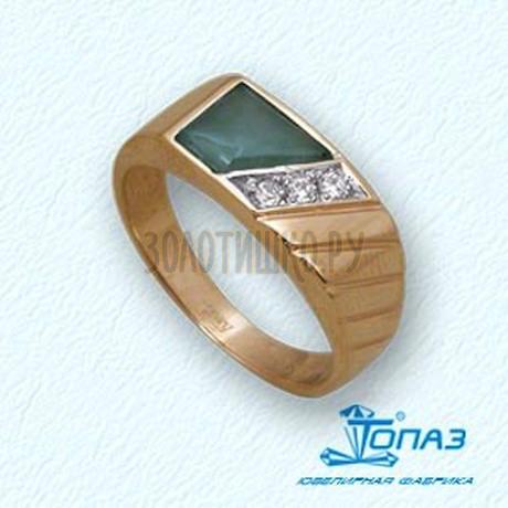 Кольцо с ониксом и фианитами 142048459