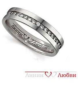 Обручальное кольцо с бриллиантами Л31101135