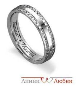 Обручальное кольцо с бриллиантами Л31101136