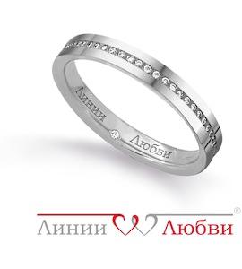 Обручальное кольцо с бриллиантами Л31101141