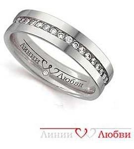 Обручальное кольцо с бриллиантами Л31101143