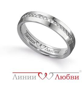 Обручальное кольцо с бриллиантами Л31101149