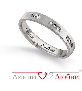 Обручальное кольцо с бриллиантами Л31131134