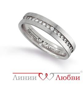 Обручальное кольцо с бриллиантами Л31131135