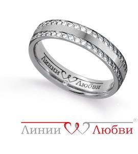 Обручальное кольцо с бриллиантами Л31131136