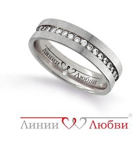 Обручальное кольцо с бриллиантами Л31131143
