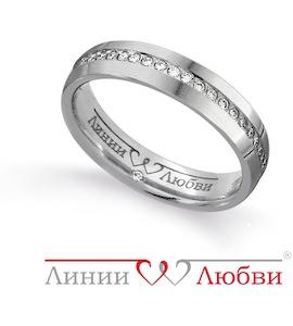 Обручальное кольцо с бриллиантами Л31131149