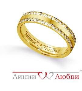 Обручальное кольцо с бриллиантами Л91101136