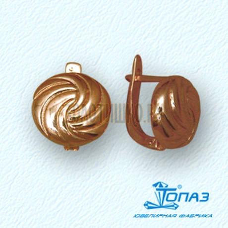 Серьги из красного золота Т10002428