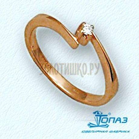 Кольцо с бриллиантом Т10101112