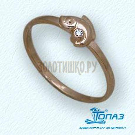 Кольцо с бриллиантом Т10101670