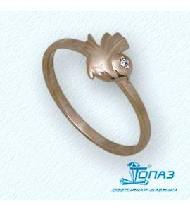 Кольцо с бриллиантом Т10101675