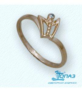 Кольцо с бриллиантом Т10101677