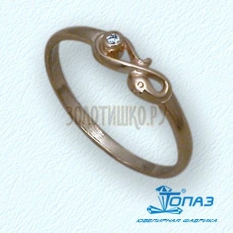 Кольцо с бриллиантом Т10101683