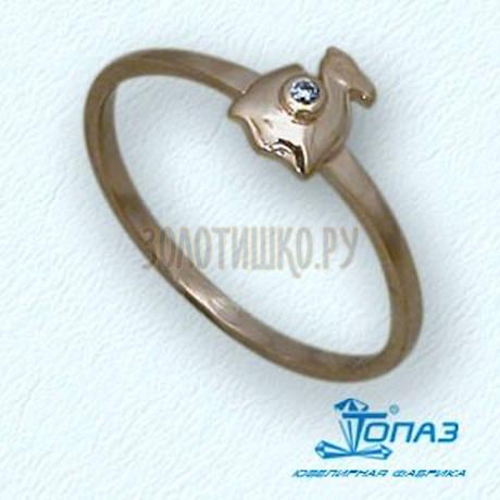 Кольцо с бриллиантом Т10101686