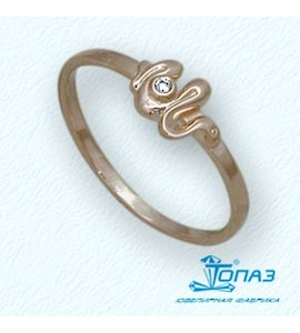 Кольцо с бриллиантом Т10101688