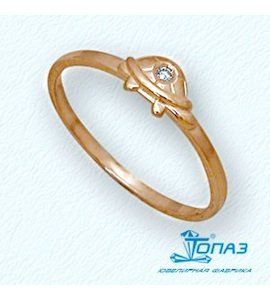 Кольцо с бриллиантом Т10101693
