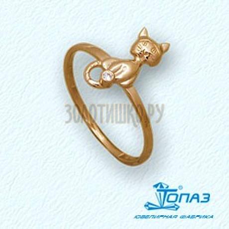 Кольцо с бриллиантом Т10101886