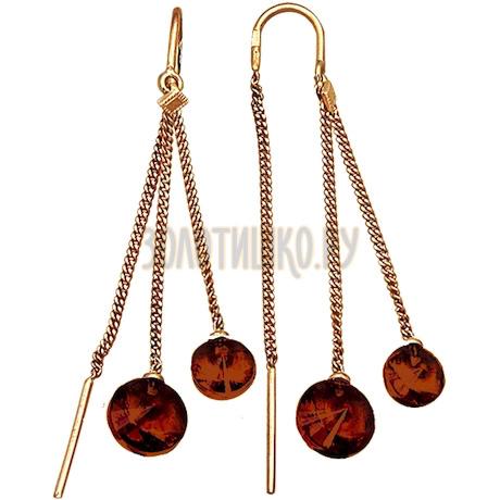 Серьги из красного золота Т10102864-02_2