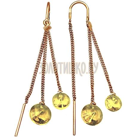 Серьги из красного золота Т10102864-02_4