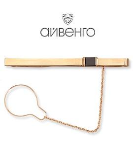Зажим для галстука с фианитом Т11208026