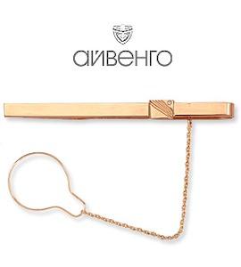 Зажим для галстука с фианитом Т11208028