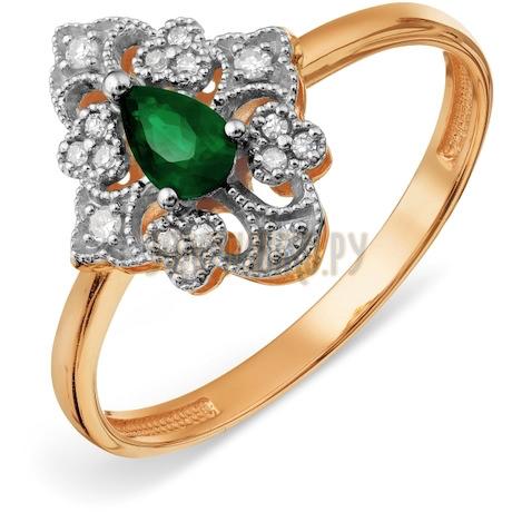 Кольцо с изумрудом и бриллиантами Т13101А121_3