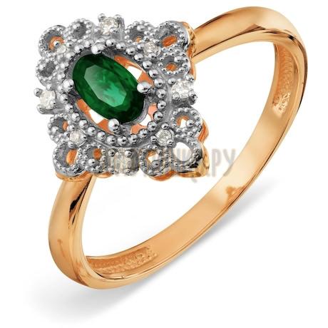 Кольцо с изумрудом и бриллиантами Т13101А123_3
