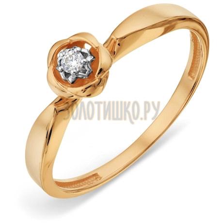 Кольцо с бриллиантом Т13101А208
