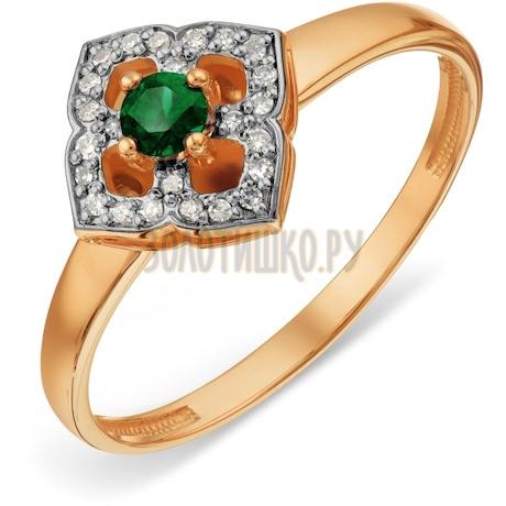 Кольцо с изумрудом и бриллиантами Т14101А004_3