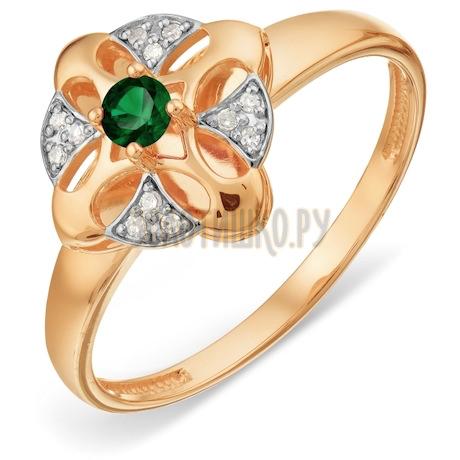 Кольцо с изумрудом и бриллиантами Т14101А006_3
