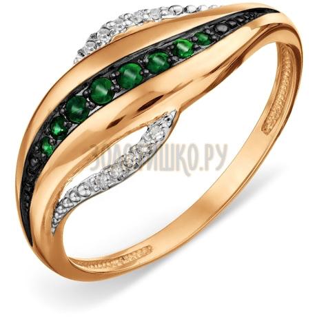 Кольцо с изумрудами и бриллиантами Т14101А047