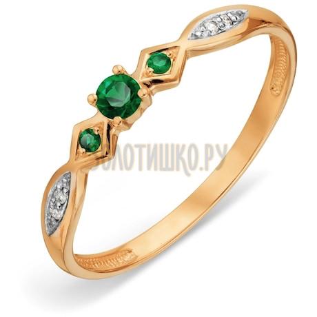 Кольцо с изумрудами и бриллиантами Т14101А112