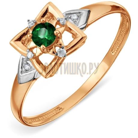 Кольцо с изумрудом и бриллиантами Т14101А127_3