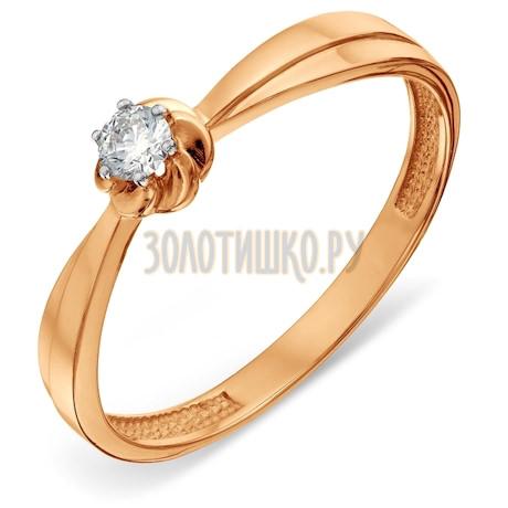 Кольцо с бриллиантом Т14101А147