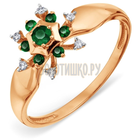 Кольцо с изумрудами и бриллиантами Т14101А155_2
